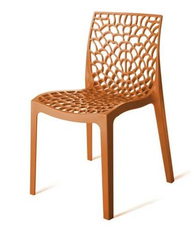 Jedálenská stolička GRUVYER oranžová