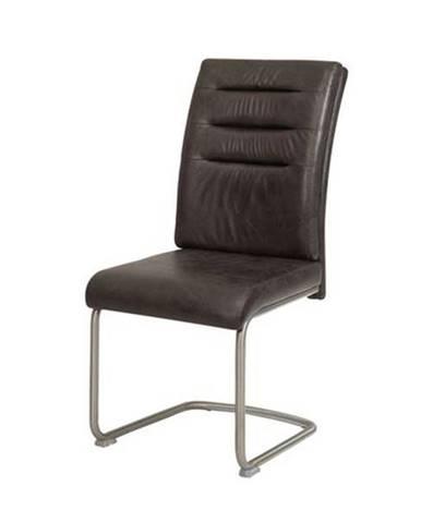 Jedálenská stolička PAULA antracitová