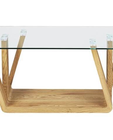 Konferenčný stolík ANTIA dub/sklo