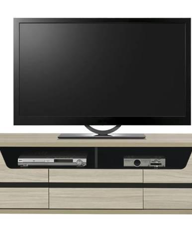 TV stolík BONN brest matný/čierna