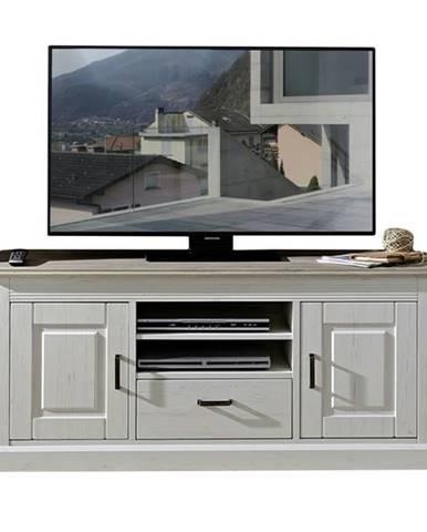 TV stolík LIMA 30 pínia/biela