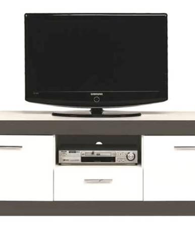 TV stolík WHITNEY GR1 biela/sivá
