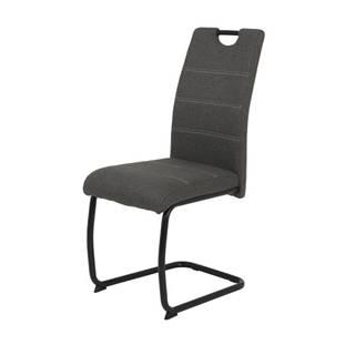 Jedálenská stolička FLORA S antracitová, mikrovlákno
