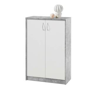Komoda OPTIMUS 38-002 beton/biela