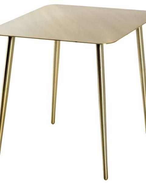 Sconto Prístavný stolík GOLDEX zlatá