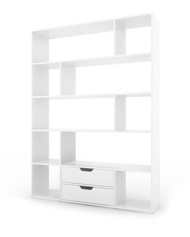 Regál/knižnica CARUSO biela