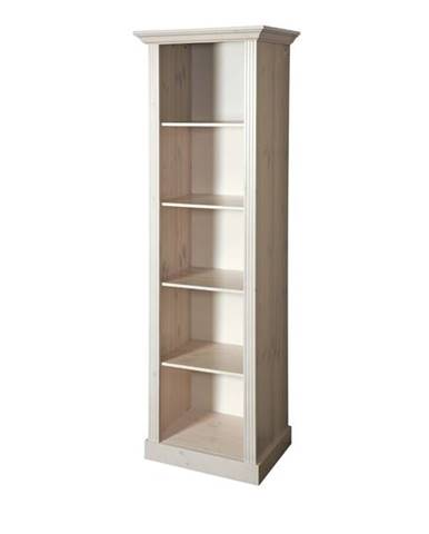 Regál/knižnica MONACO 142 borovica biela