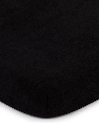 4Home froté prestieradlo čierna, 140 x 200 cm