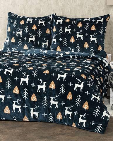 4Home obliečky mikroflanel Nordic Deer, 160 x 200 cm, 2 ks 70 x 80 cm