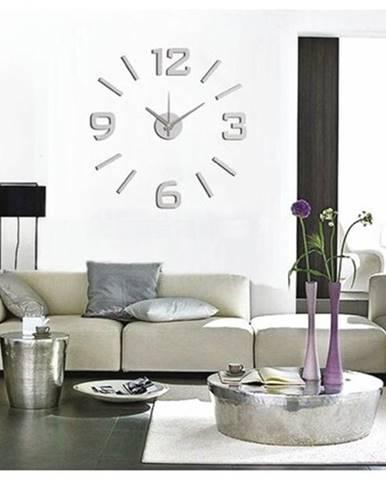 StarDeco Nástenné hodiny matná strieborná, pr. 60 cm